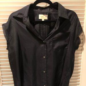 Elizabeth & James black silk blouse